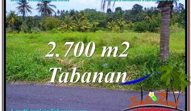 JUAL TANAH di TABANAN BALI 2,700 m2  View gunung dan sawah