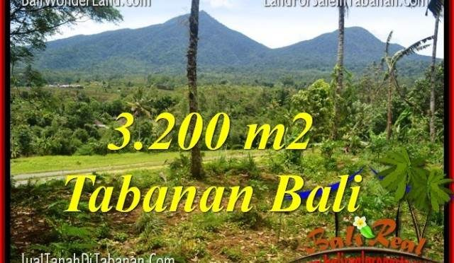 JUAL MURAH TANAH di TABANAN BALI 3,200 m2  View gunung dan sawah
