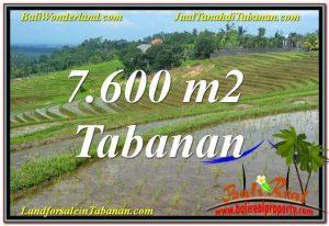 TANAH di TABANAN JUAL MURAH 7,600 m2  View Laut, Gunung dan sawah