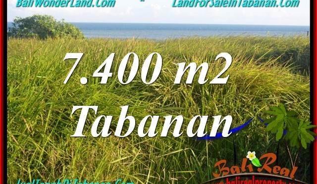 JUAL TANAH di TABANAN 7,400 m2  View Laut, Gunung dan sawah