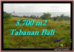 TANAH MURAH JUAL di TABANAN BALI 5,700 m2  View sawah, laut dan gunung