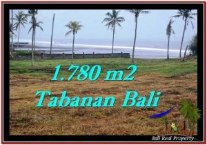 TANAH MURAH JUAL di TABANAN BALI 1,780 m2  View sawah, laut dan gunung